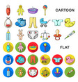 birth of a baby cartoon icons in set collection vector image vector image