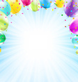 Birthday Card Design Template Balloon vector image