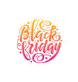 black friday lettering vector image vector image