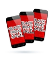 Black Friday smartphone vector image