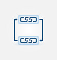 block chain technology concept icon vector image vector image