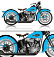 blue classic motorcycle vector image