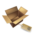 box with eco tag vector image vector image