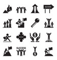 business successful icons set vector image vector image