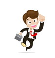 Businessman jumping with joy on the white vector image vector image