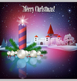 Celebration greeting with Christmas candle and vector image vector image