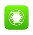 close objective icon digital green vector image vector image