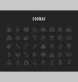 cognac icons vector image
