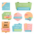 colorful banners template set flat sale discount vector image