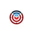 connection target logo icon design vector image