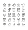 Creative design process linear icons for vector image vector image