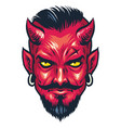 demon head vector image