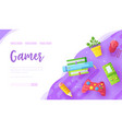 desk gamer with game console joypad mouse vector image vector image