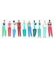 doctors medical workers medics and nurses vector image