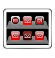 E-mail red app icons vector | Price: 1 Credit (USD $1)