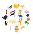 egypt isometric 3d icons vector image vector image