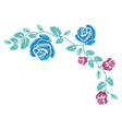 embroidery rose ornament vector image