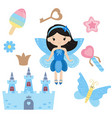 fairy with magic design elements fairy with magic vector image vector image