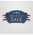 Fourth of July Sale Tag vector image vector image