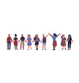 friends characters people standing together and vector image vector image