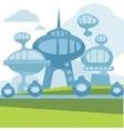 Future city landscape modern vector image vector image