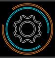 gear - cog icon - settings symbol vector image