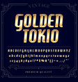 gold metallic font set letters numbers and vector image vector image