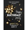 Happy Birthday invitation poster template vector image vector image