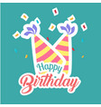 happy birthday party hat background image vector image