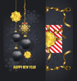 holiday greeting and happy new year 2018 card vector image