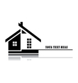 home on white background vector image vector image