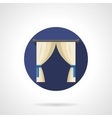 Indoor curtains round flat icon vector image vector image