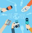 Journalism concept Live News vector image