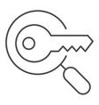 keyword search thin line icon magnifying glass vector image vector image