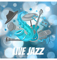 live jazz festival and jazz music party vector image vector image