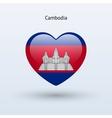 Love Cambodia symbol Heart flag icon vector image vector image