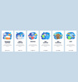 mobile app onboarding screens laundry service vector image