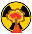 nuclear burst cartoon bomb explosion radioactive vector image vector image