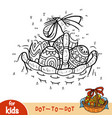 numbers game dot to dot game for children easter vector image vector image