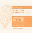premium quality seafood delights abstract vector image vector image