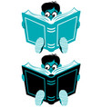 reading boy vector image