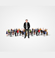 real leader - business man in crowd vector image vector image