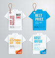 Sale banners price tag paper card template vector image vector image