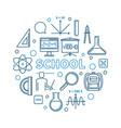 school concept round blue in vector image