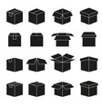 set abstract box icons vector image
