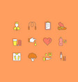 set simple line icons diabet vector image vector image