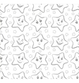 smilies stars contours vector image vector image