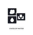 states matter isolated icon simple element vector image vector image