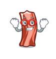 super hero ribs character cartoon style vector image