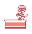 teacher woman ilustratio vector image vector image